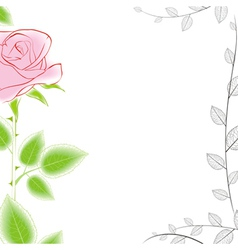 Rose border vector