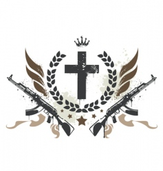 Grunge gang design vector
