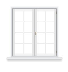 Closed window on white background vector