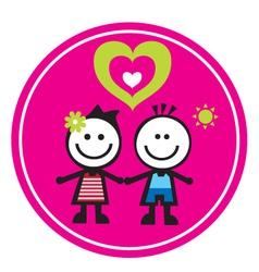Children sticker vector