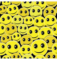 Smile face pattern vector