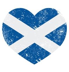 Scotland retro heart flag vector