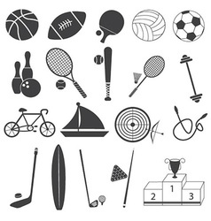 Basic sport icons set vector