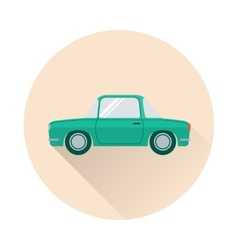 Flat retro car icon vector
