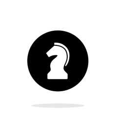 Chess knight simple icon on white background vector