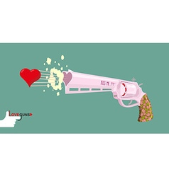 Arms of love magnum love colt gun shoots hearts vector