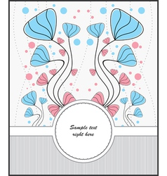 Template cards for postcards vector