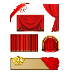 Theater set vector