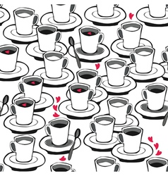 Coffee patterns vector