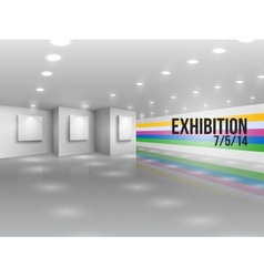 Exhibition announcement advertising invitation vector