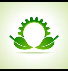Green energy part icon design concept vector