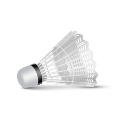 Badminton shuttlecock isolated on white vector