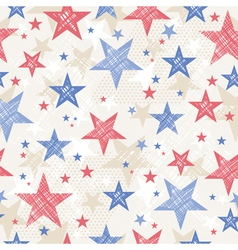 Background with seamless pattern with stars vector