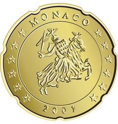 Gold monaco money vector
