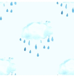 Seamless pattern with watercolor cloud vector