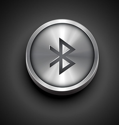 Metallic bluetooth icon vector