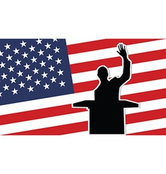 Usa president black silhouette vector