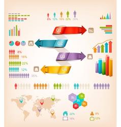 Set of info graphics elements vector