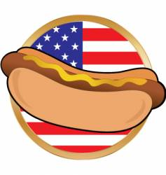 Hot dog american flag vector