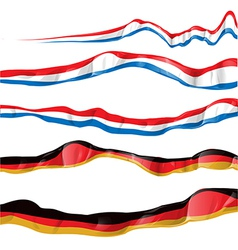 France and germany flag set vector