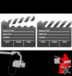 Clapboard and director vector
