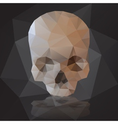Black human scary skull from triangles eps10 vector