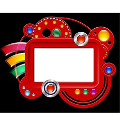 Abstract interface with screen and buttons vector