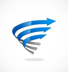 Twist arrow abstract ribbon logo vector