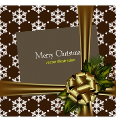 Beautiful gold christmas card vector