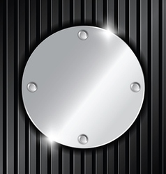 Circle metallic label vector