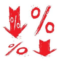 Discount symbols vector