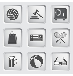 Icons on the buttons for web design set 1 vector