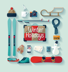 Winter holiday vector