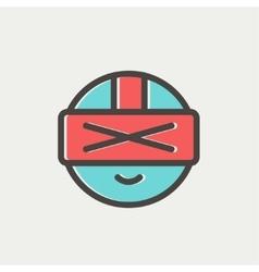 Futuristic headset thin line icon vector