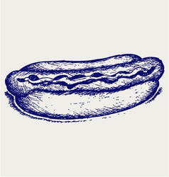 Old-fashioned hot dog vector