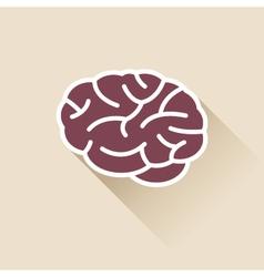 Simple brain icon vector