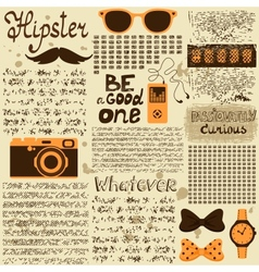 Hipster seamless vintage newspaper vector