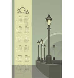 Lights in the faithful city calendar vector