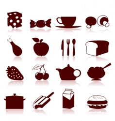 Food icon4 vector