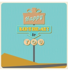 Birthday greetings sign vector