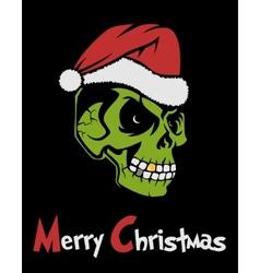 Zombie santa claus vector