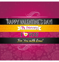 Color background with valentine heart vector