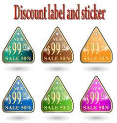 Label information badge shop sticker advertising d vector