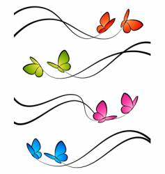 Butterflies elements vector