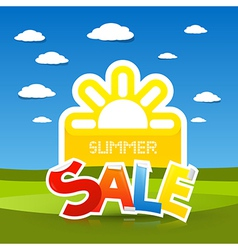 Summer sale title vector