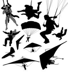 Extreme fly sports vector