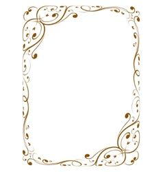 Calligraphy decorative frame vector