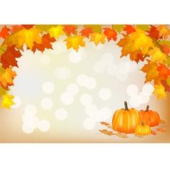 Autumn pumpkin holiday postcard vector