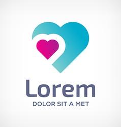 Heart symbol logo icon design template vector