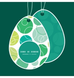 Abstract green circles easter egg shaped vector